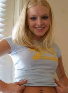 Everyone Loves A Blonde Like Skye Who Loves To Tease With Her Tight Teen Body - Picture 10