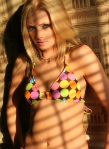 Stunning Blonde Teen Teases As She Strips Out Of Her Bikini Exposing Her Perky Tits - Picture 7